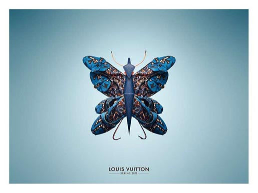 Louis Vuitton Shoes Blue Butterfly
