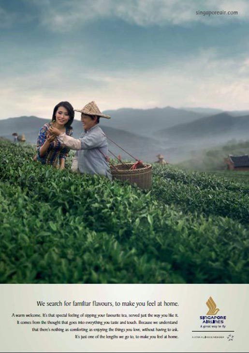 Singapore AIrlines Fujian Jasmine Tea print ad
