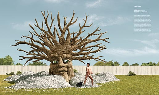 Ticket Oak In The Bark Print Ad