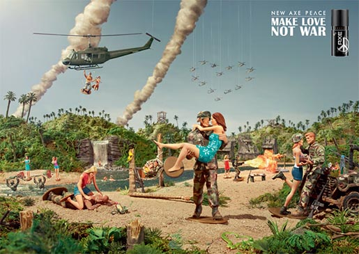 Axe Peace - Make Love Not War print ad