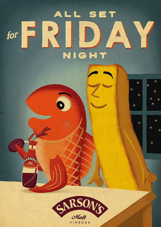 Sarsons Fish & Chips on Fridays - The Inspiration Room