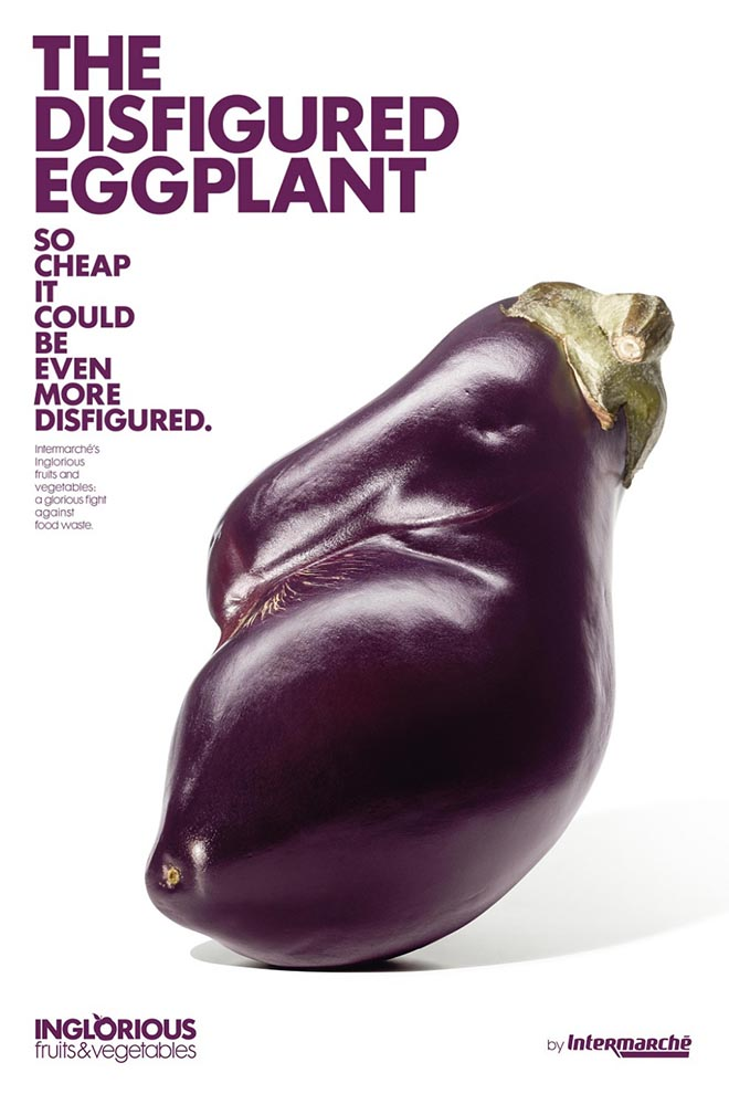 Intermarche Disfigured Eggplant - Inglorious Fruit and Vegetables