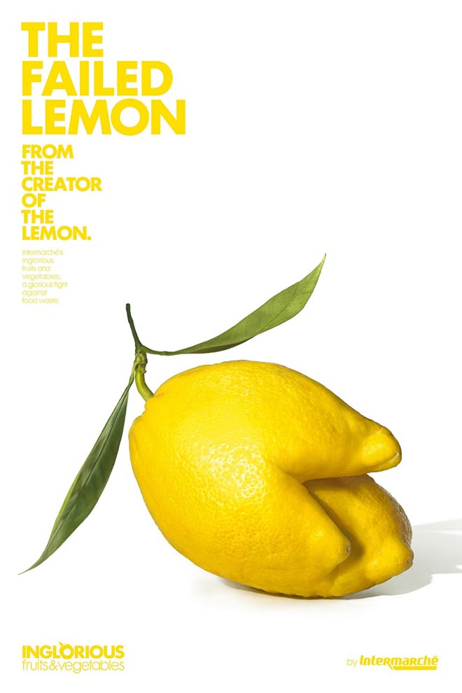 Intermarche Failed Lemon - Inglorious Fruit and Vegetables