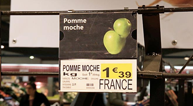 Intermarche Pomme Moche - Inglorious Fruit and Vegetables