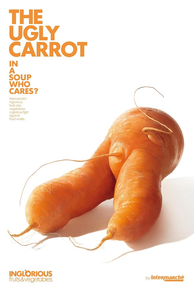 Intermarche Ugly Carrot - Inglorious Fruit and Vegetables