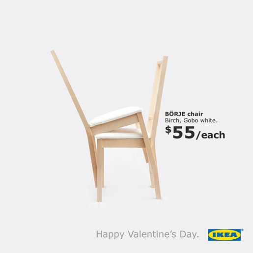 IKEA Valentines Day Love Chairs
