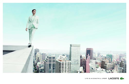 Lacoste Life is a Beautiful Sport - billboard - Man on Wall