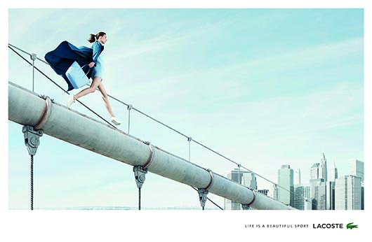 Lacoste Life is a Beautiful Sport - billboard - Woman on Pipe