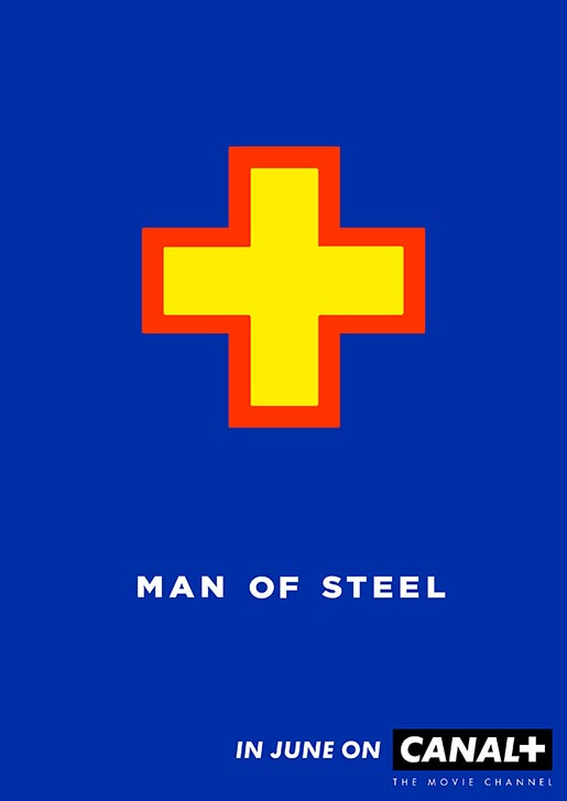Canal Plus Man of Steel Poster
