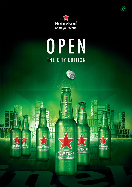 Heineken Open The City bottles