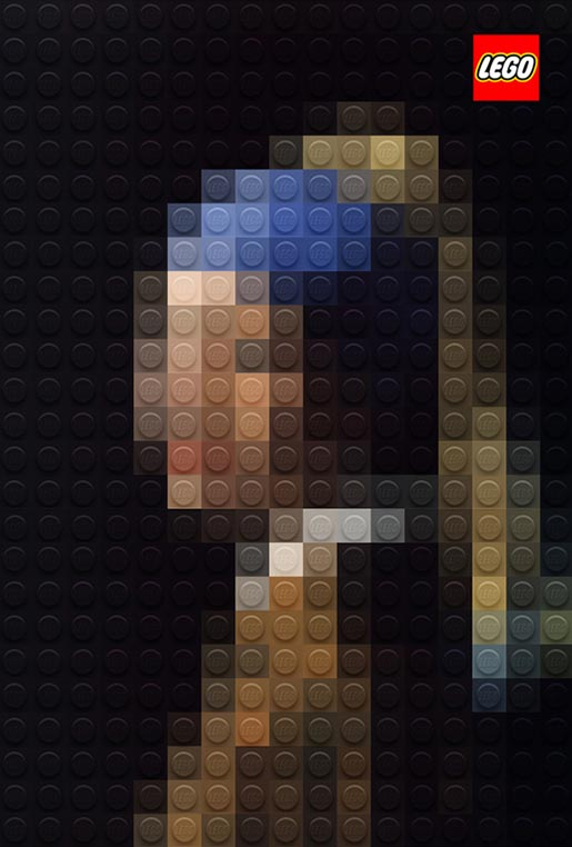 Lego Vermeer Girl with a Pearl Earring