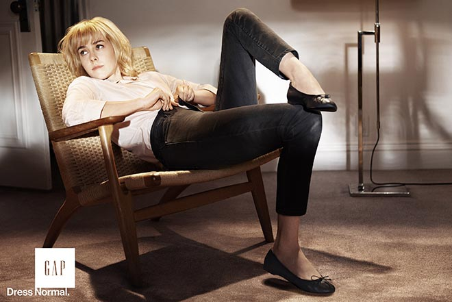 Jena Malone in Gap Dress Normal print ad