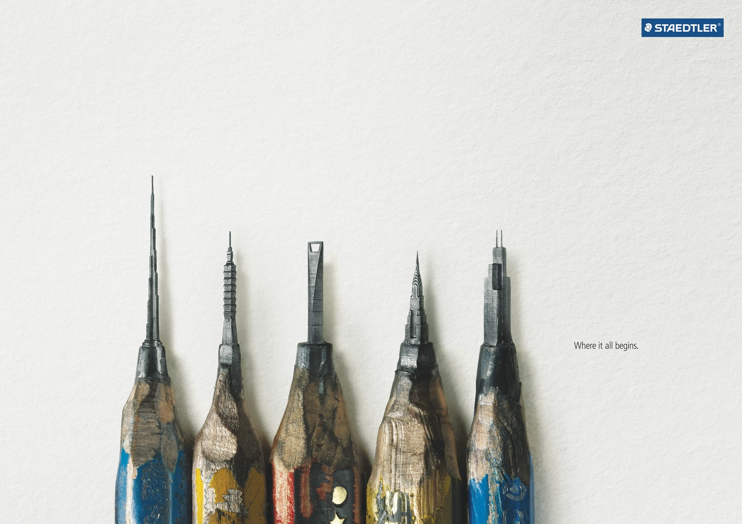 Staedtler pencils where it all begins the inspiration room for Ad architectural design