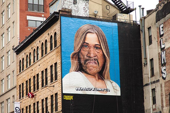 SNICKERS What's Up with Marcia billboard
