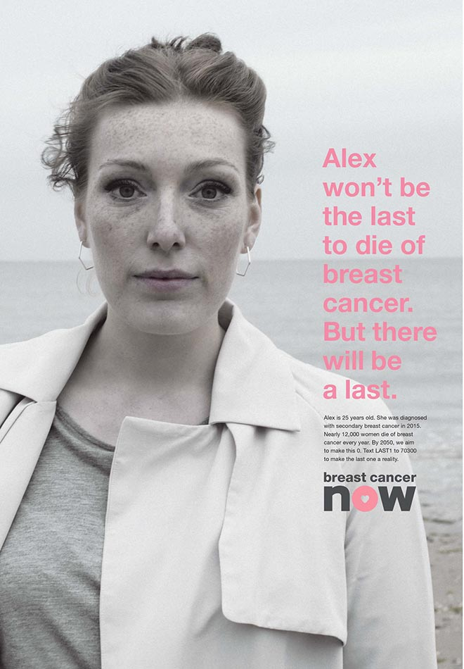 Breast Cancer Now The Last One poster - Alex