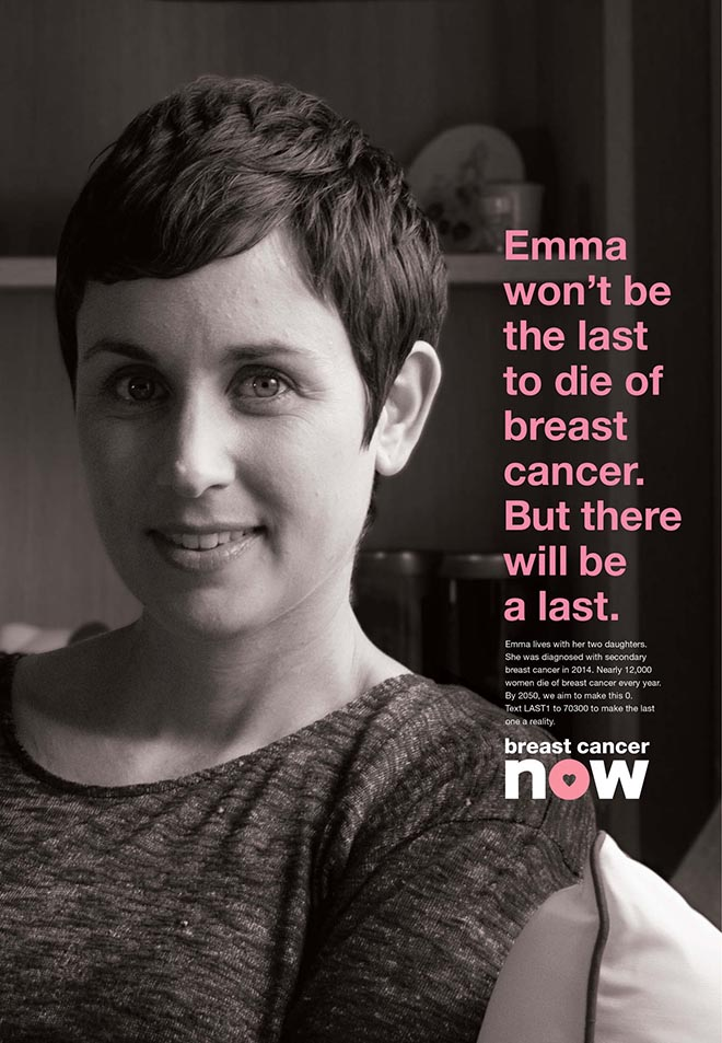 Breast Cancer Now The Last One poster - Emma