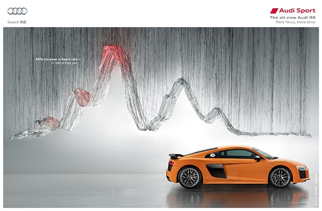 Audi R8 Heart rate ad