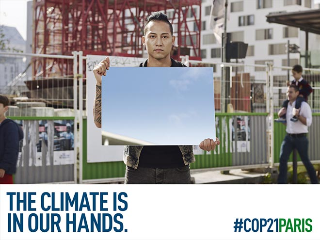COP21 The Climate is in our hands outdoor ad