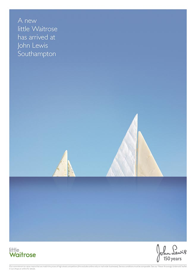 John Lewis Southampton cheese print advertisement