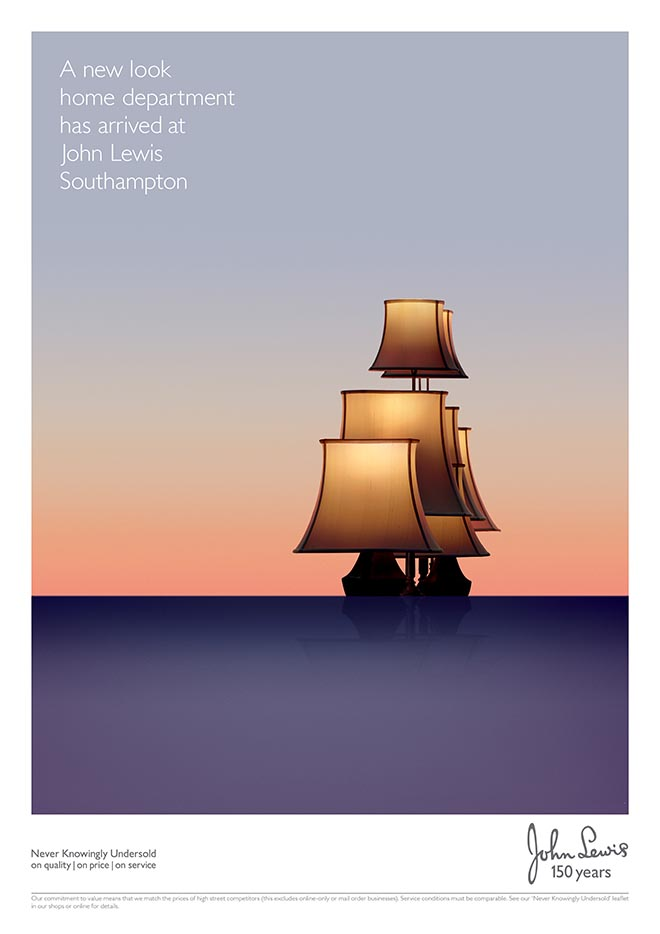 John Lewis Southampton lampshades print advertisement