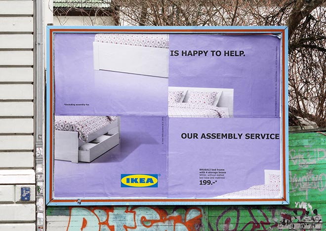 IKEA Assembly Fail Bed Billboard