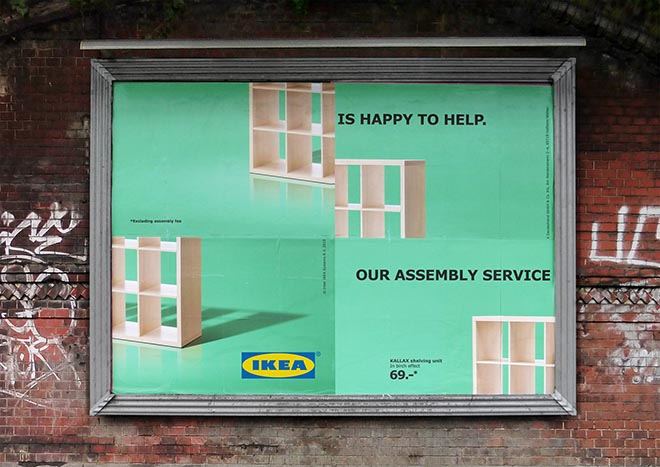 IKEA Assembly Fail Shelf Billboard