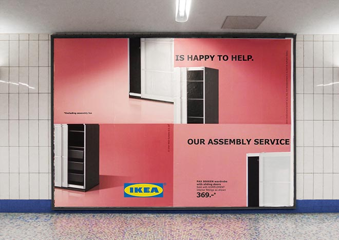 IKEA Assembly Fail Wardrobe Billboard