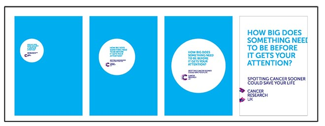 Cancer Research UK digital posters - how big?
