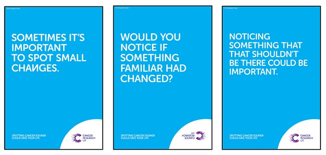 Cancer Research UK posters