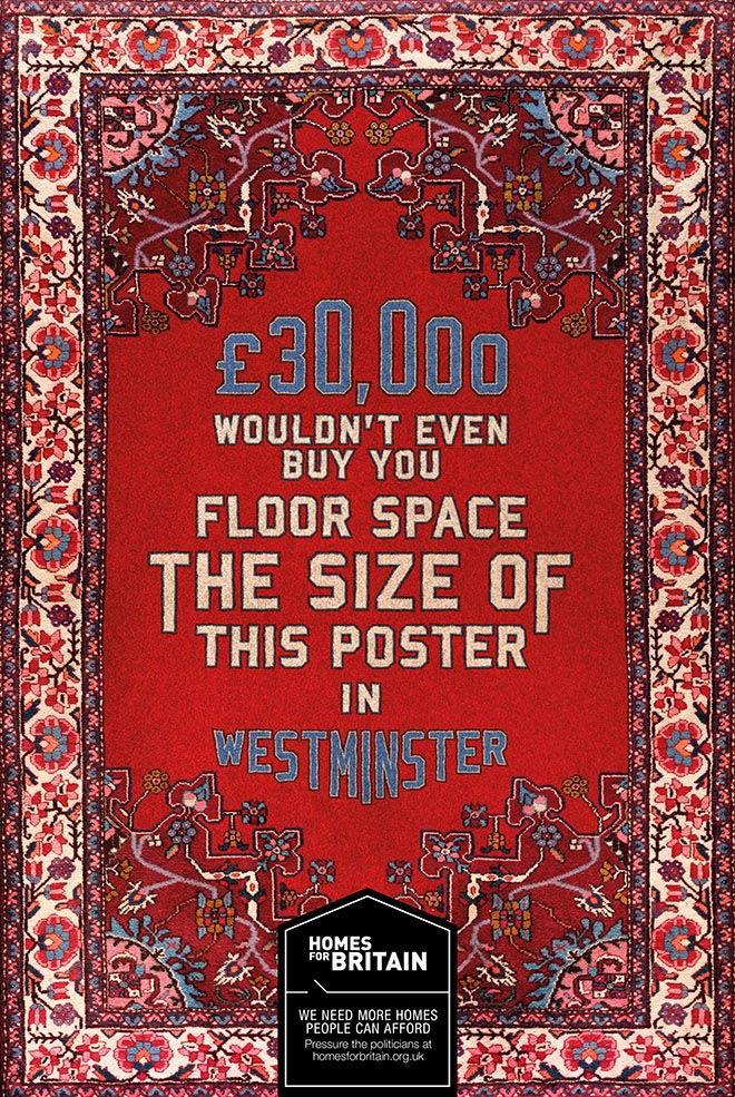 Homes for Britain carpet poster