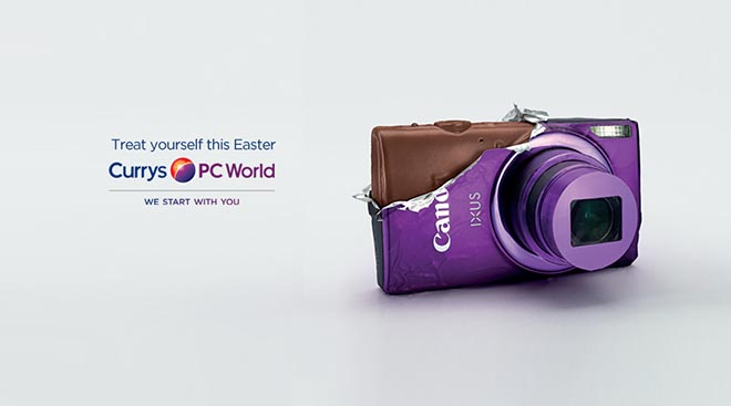 Currys PC World chocolate camera