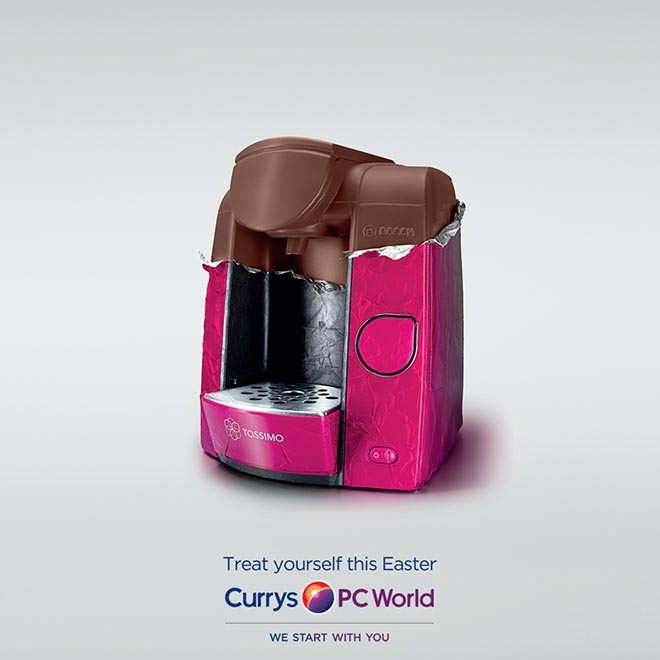 Currys PC World chocolate coffee machine