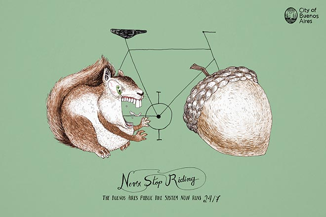 Never Stop Riding Squirrel