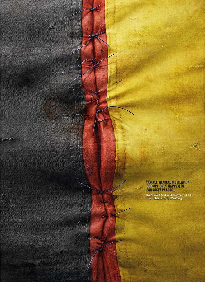 28 Too Many Germany Flag print ad
