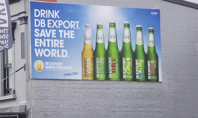 DB Export Brewtroleum billboard