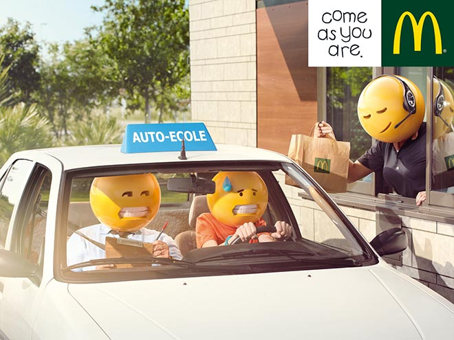 McDonalds Driving School Emoticons