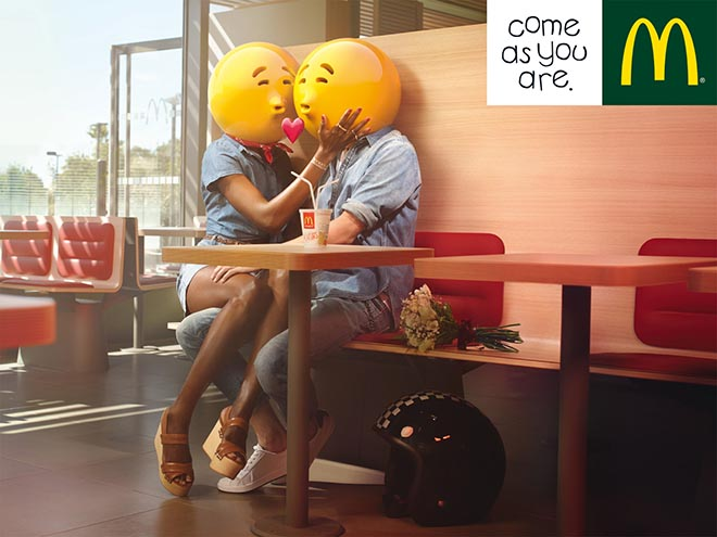 McDonalds Kissing Couple Emoticons