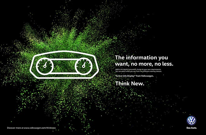 Volkswagen Think New Information print ad