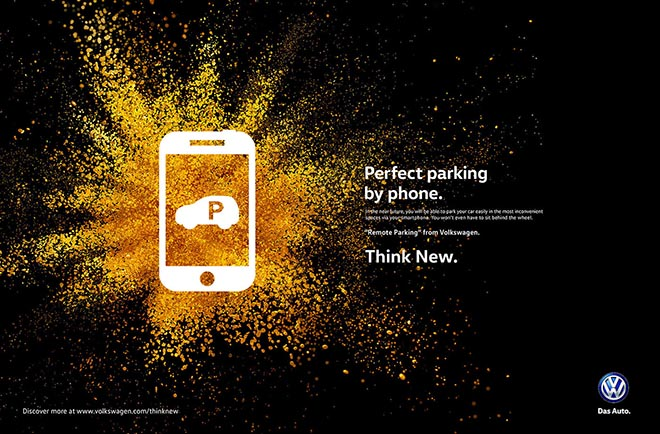 Volkswagen Think New Perfect Parking print ad