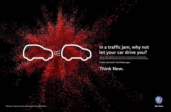 Volkswagen Think New Traffic Jam print ad