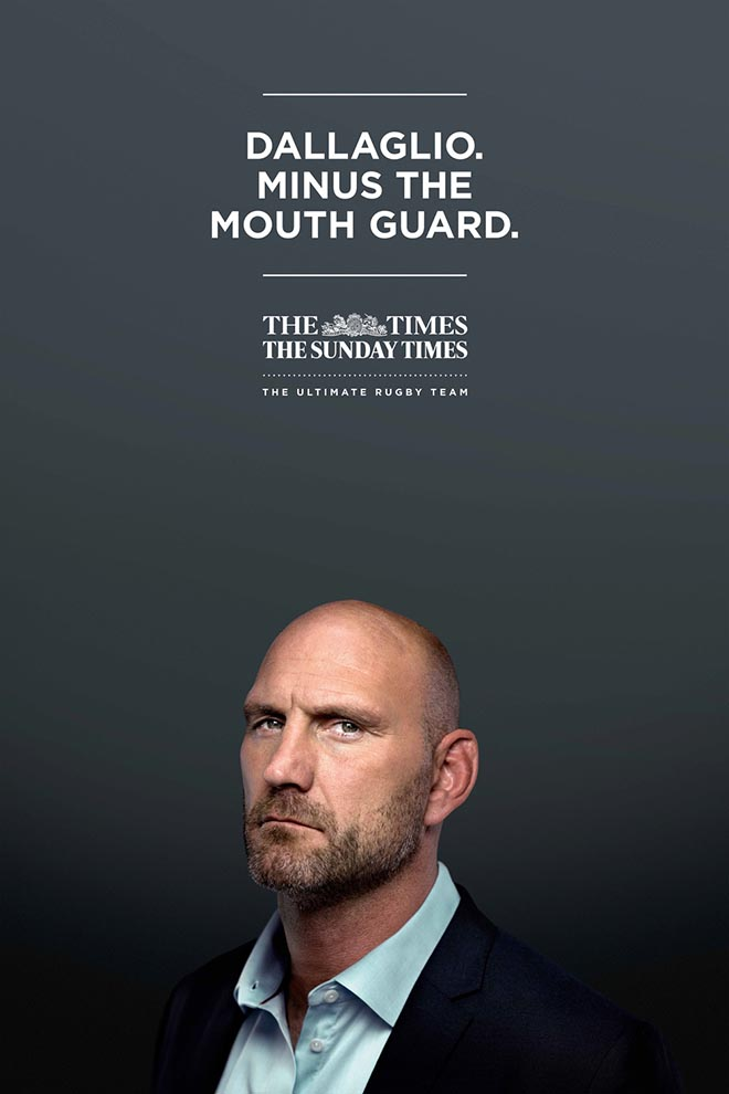 Dallaglio minus the mouth guard