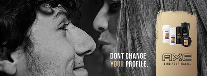 Axe Don't Change Your Profile Facebook header