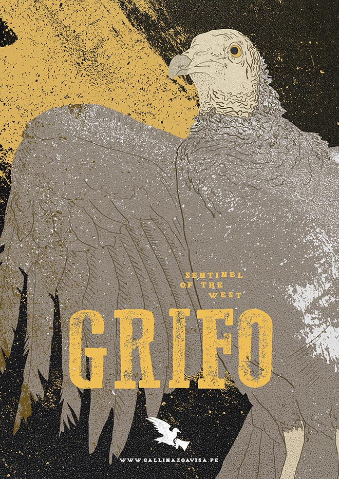 Vultures Warn poster - Grifo