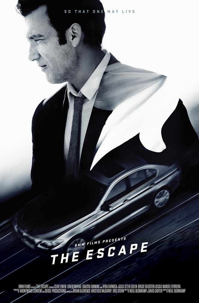 BMW The Escape poster - Clive Owen