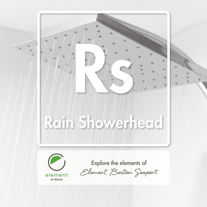 Element Boston Table of Elements RS Rain Showerhead