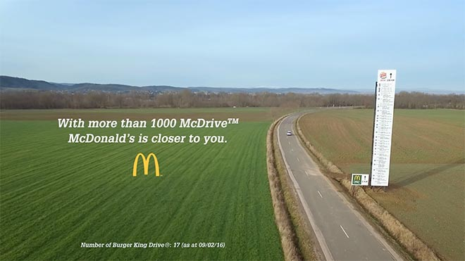 Mcdonalds Directional Billboard McDrive vs Burger King