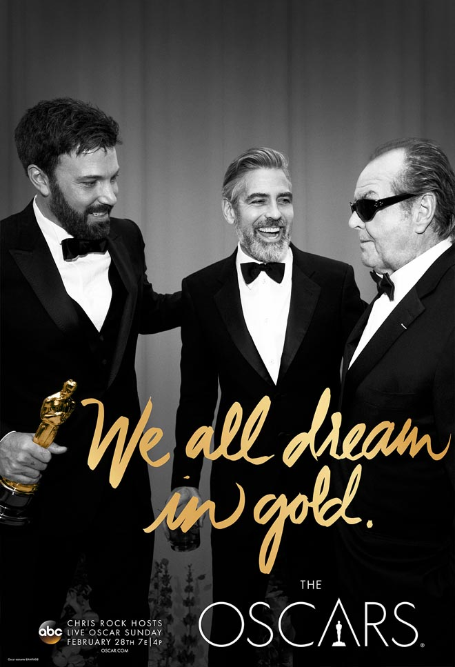 We All Dream in Gold poster with Ben Affleck, George Clooney, and Jack Nicholson