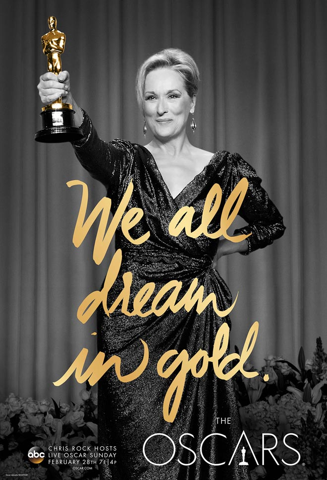 We All Dream in Gold poster with Meryl Streep
