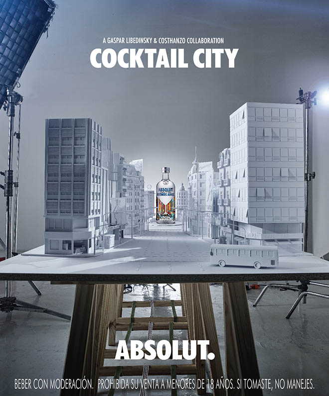 Absolut Buenos Aires Cocktail City magazine ad