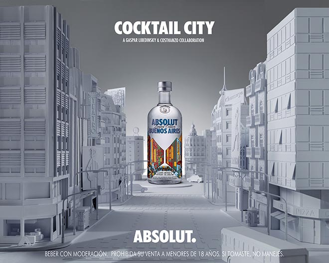 Absolut Buenos Aires Cocktail City newspaper ad